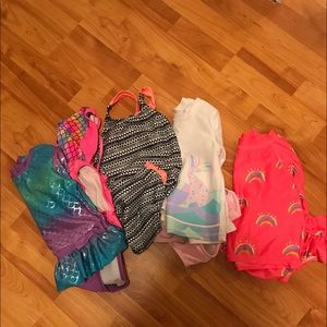 Lot of 5 3T and 4T toddler girl bathing suits